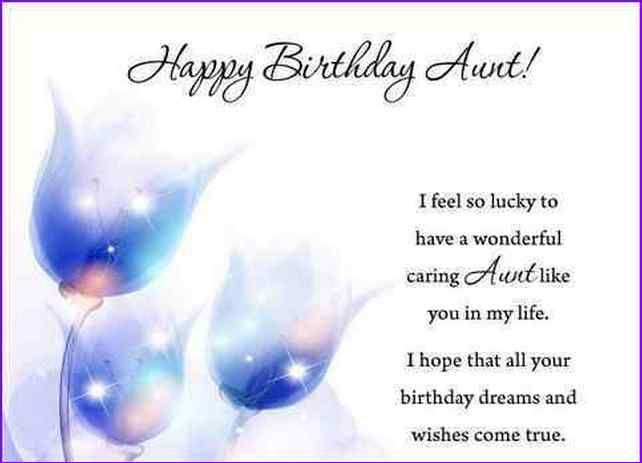 Happy Birthday Wishes For A Aunt Birthday Card For Aunt Happy