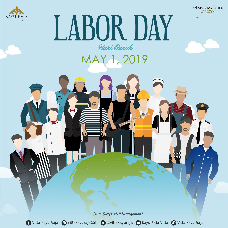 Labor Day Hari Buruh Buruh Animasi