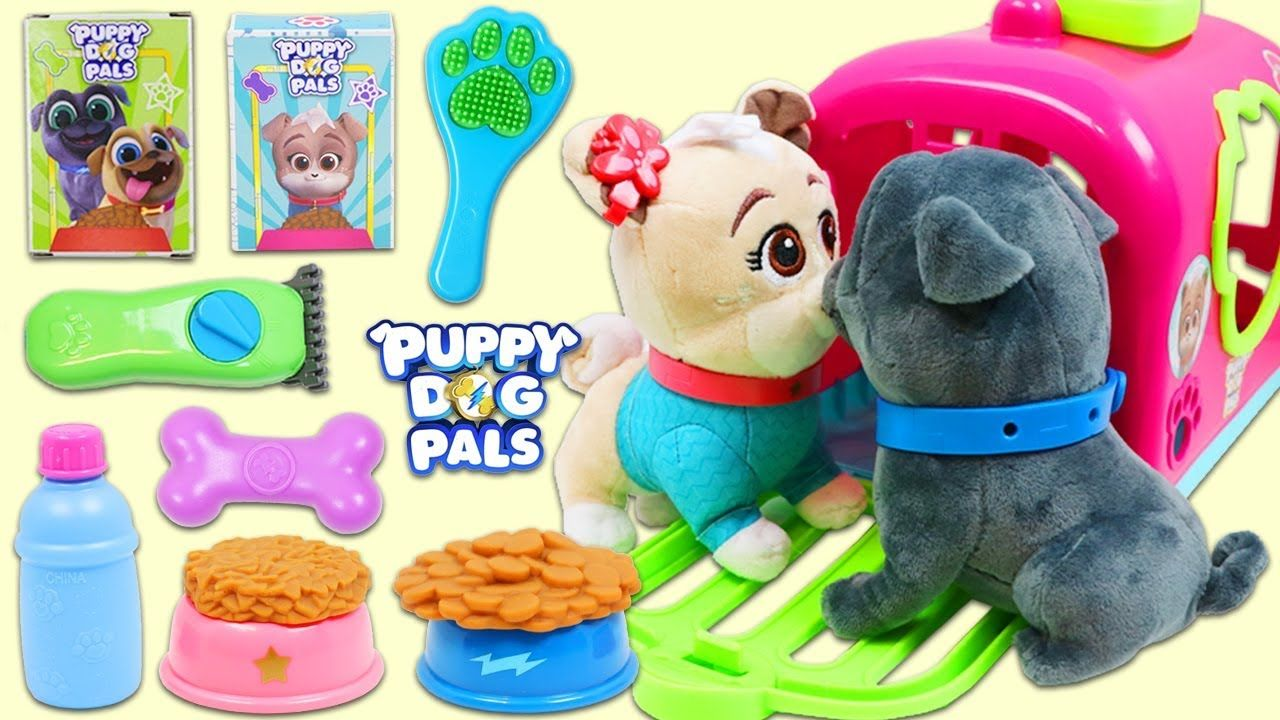 Puppy Dog Pals Pet Crate Playset Keia Visits Pet Vet For A Bath And Gr Pet Vet Pet Crate Dogs And Puppies