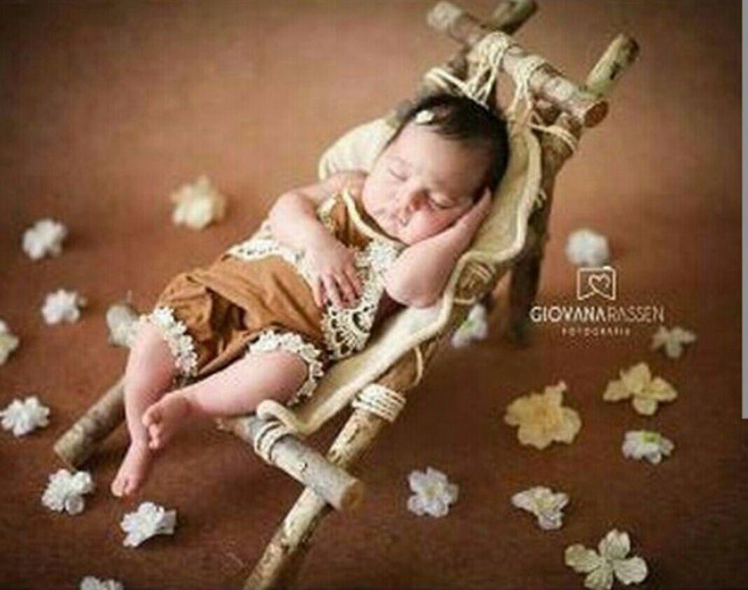 Acess rios newborn cama em madeira cama r stica e banco - Cunas rusticas para bebes ...