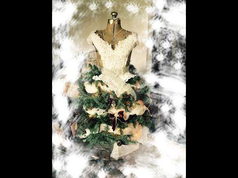 How to Make a Dress Form Christmas Tree - YouTube Christmas ideas
