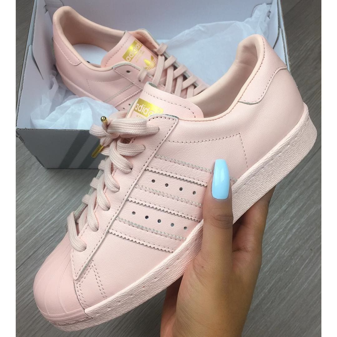 Image Of Adidas Superstar 80s Leather Blush Pink Women
