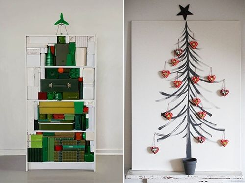 Diy xmas decoration ideas homemade christmas tree tis the season diy xmas decoration ideas homemade christmas tree solutioingenieria Images