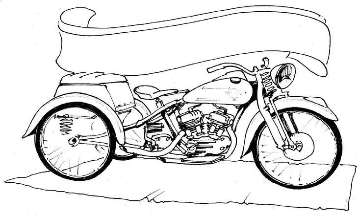 custom motorcycle coloring page bing images