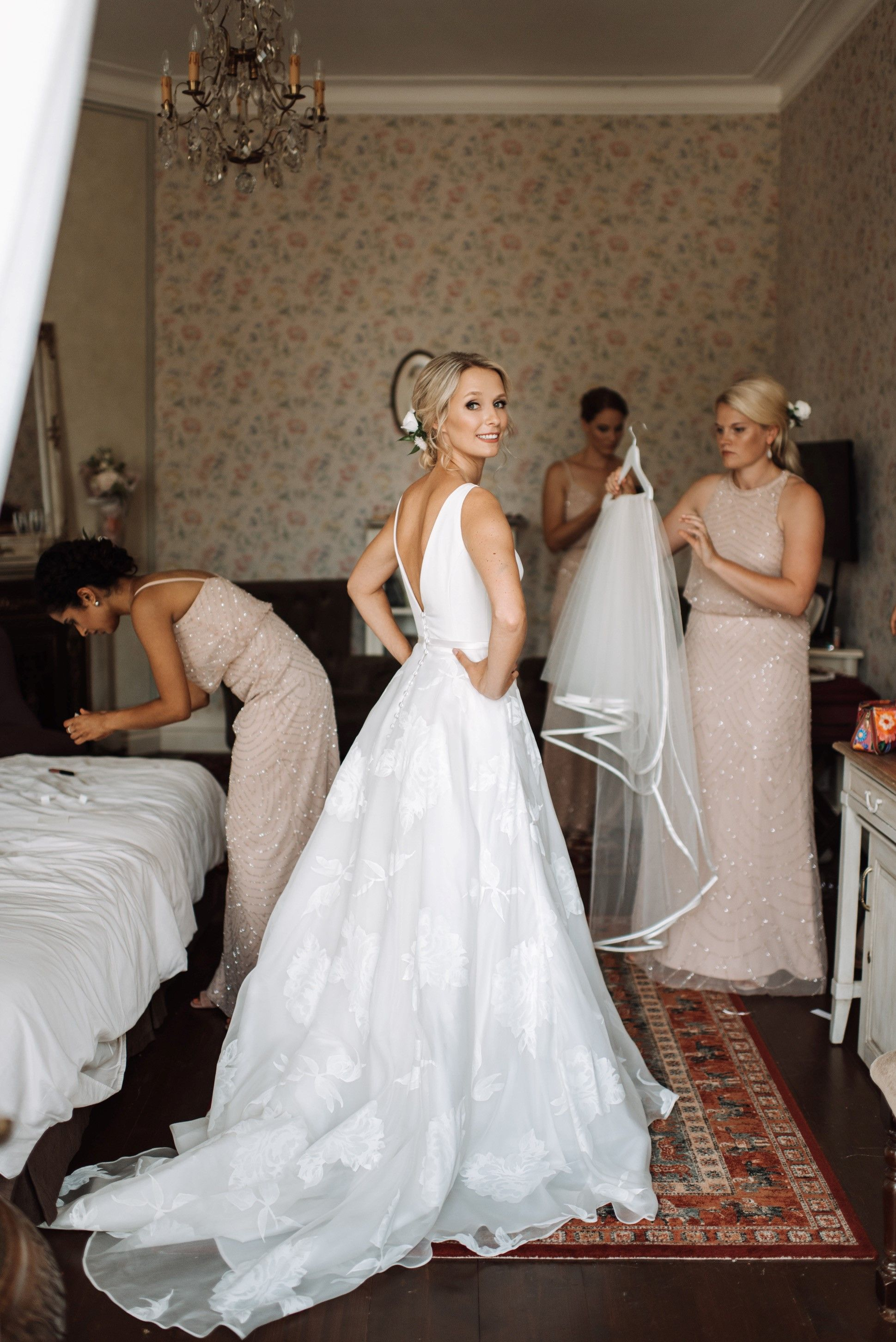 30bb0c488ff6 Beautiful bride Elina wearing Sassi Holford Amelia | Our beautiful ...