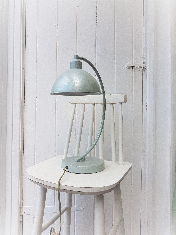 Duck egg lamp metallic gilded desk lamp vintage
