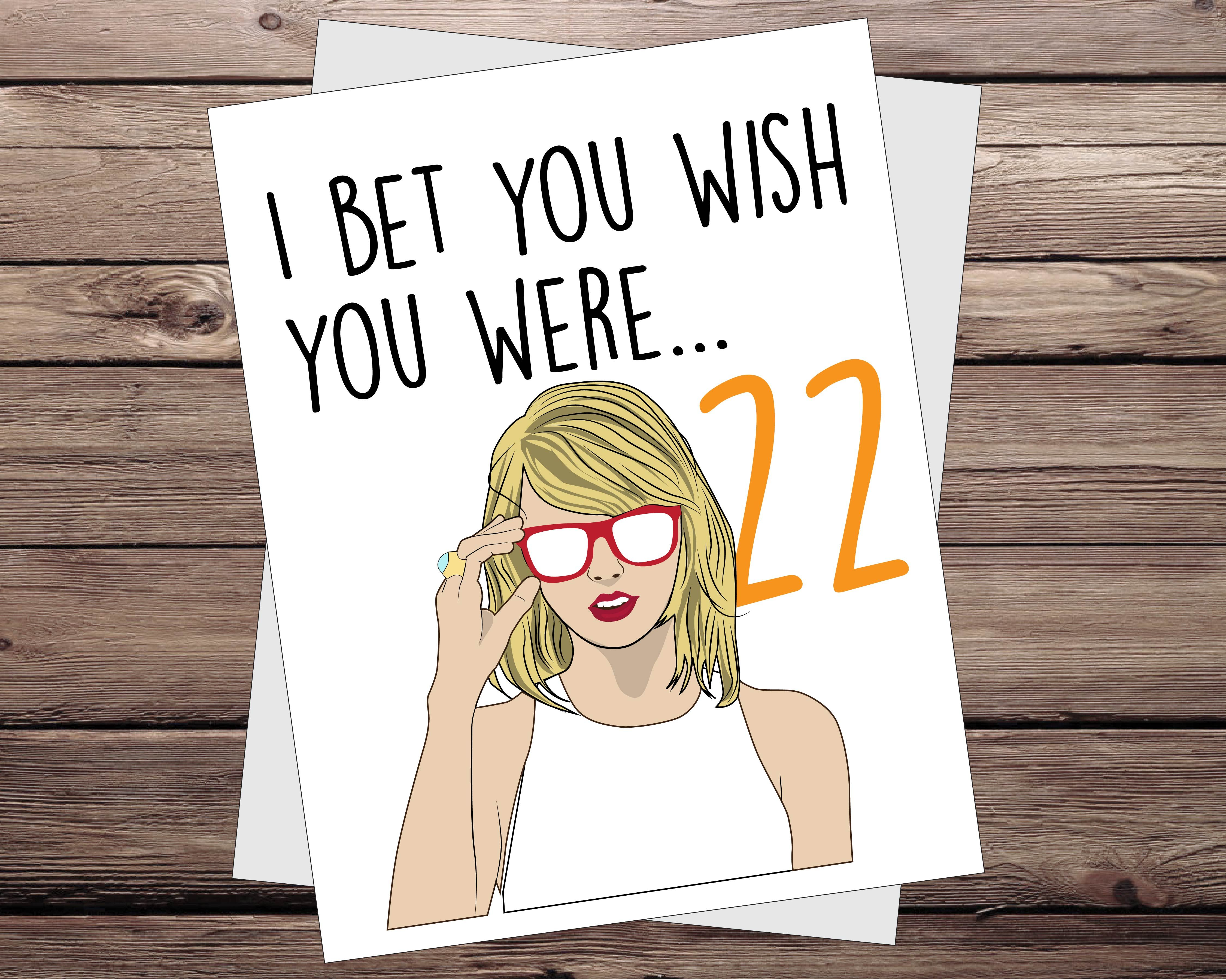 Taylor Swift Birthday Card Taylor Swift Birthday Card Taylor Swift Birthday Happy Birthday Card Funny