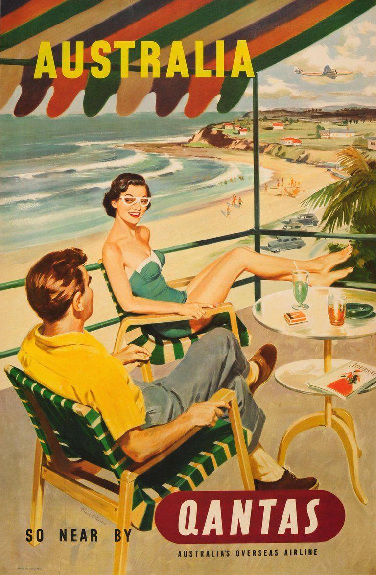 Frank mcnamara original vintage mid century travel