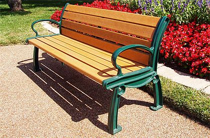 Tremendous Man Made Materials Benches Composite Park Bench Planks For Andrewgaddart Wooden Chair Designs For Living Room Andrewgaddartcom
