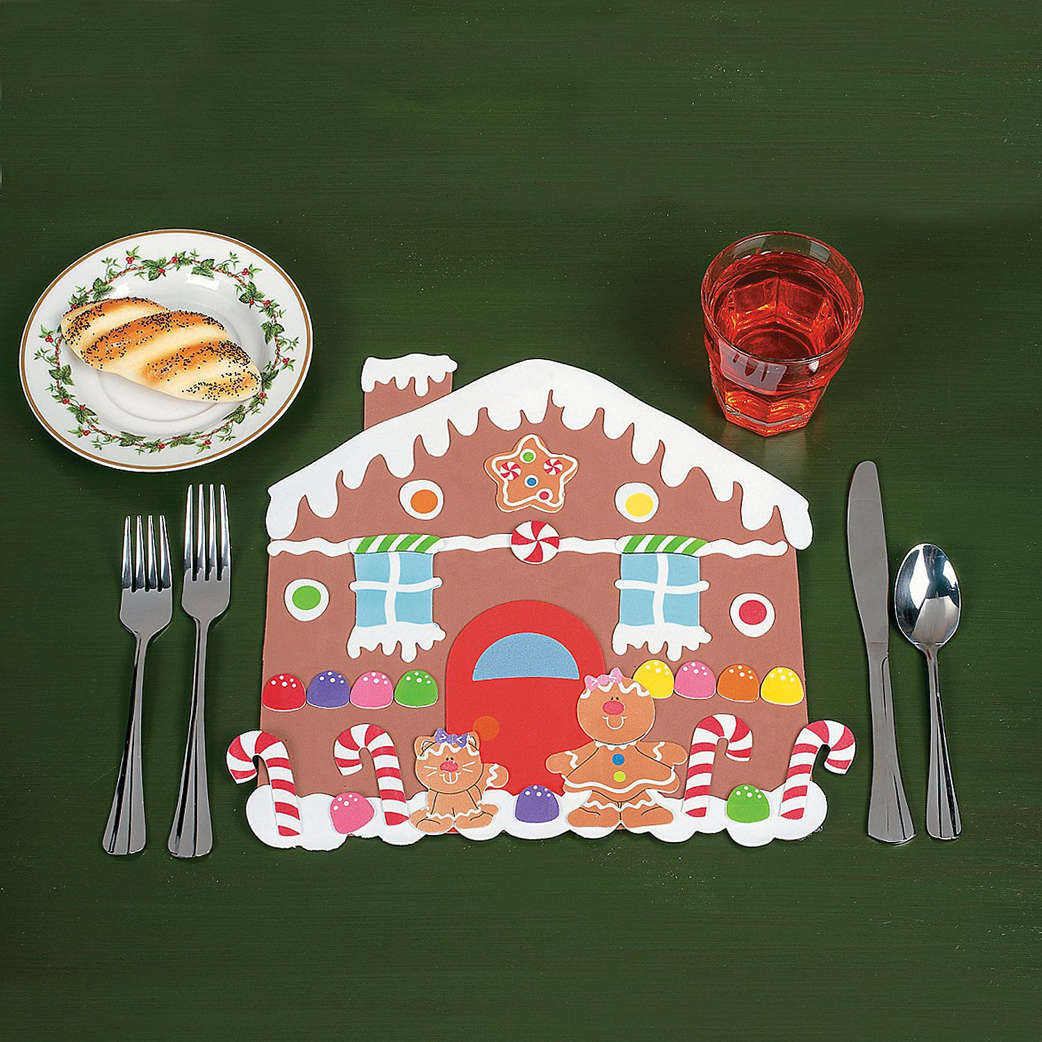 Diy Foam Gingerbread House Placemats Christmas Craft Kit Gingerbread Crafts Gingerbread House Craft
