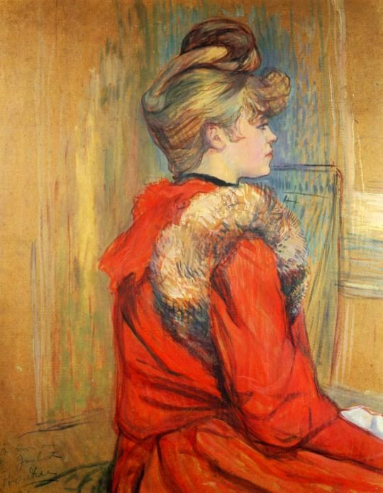 Girl In A Fur Mademoiselle Jeanne Fontaine ~Henri De Toulouse-Lautrec