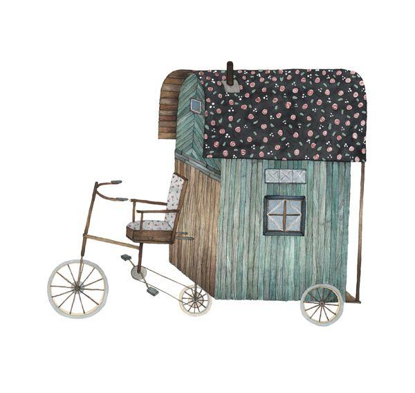 Bike Caravan by anna emilia