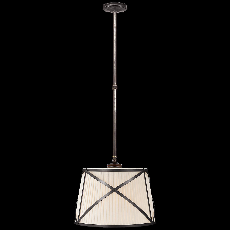 Grosvenor Single Hanging Shade Linen Shades Hanging Lighting Collections