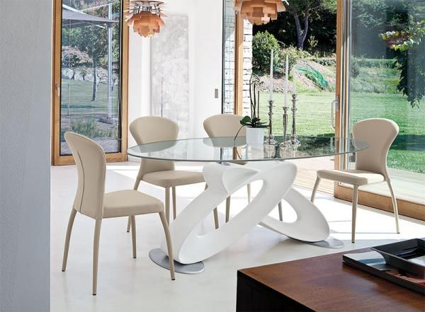 Room · Target Point Modern White Eclipse Oval Glass Dining Table