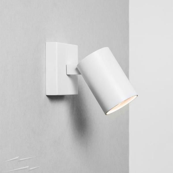 Ascoli Single Textured White Adjustable Spotlight Ip20