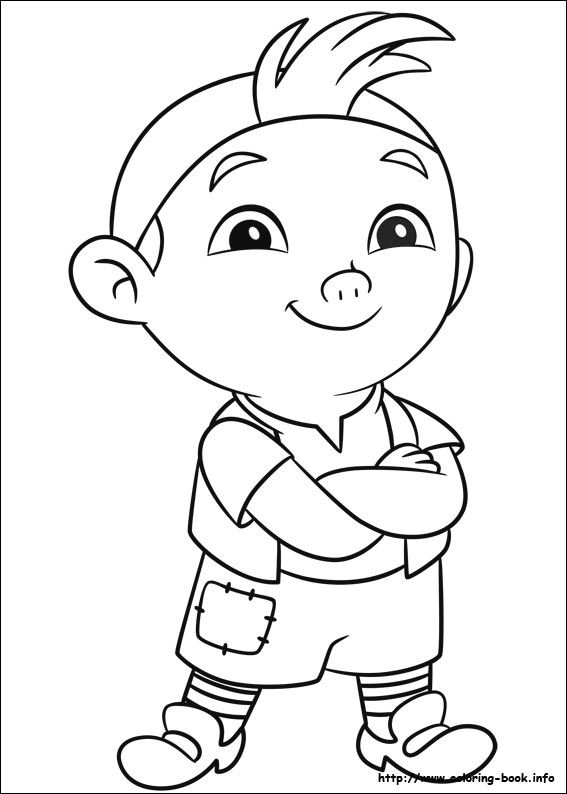 Jake and the Never Land Pirates coloring picture | Disney Coloring ...