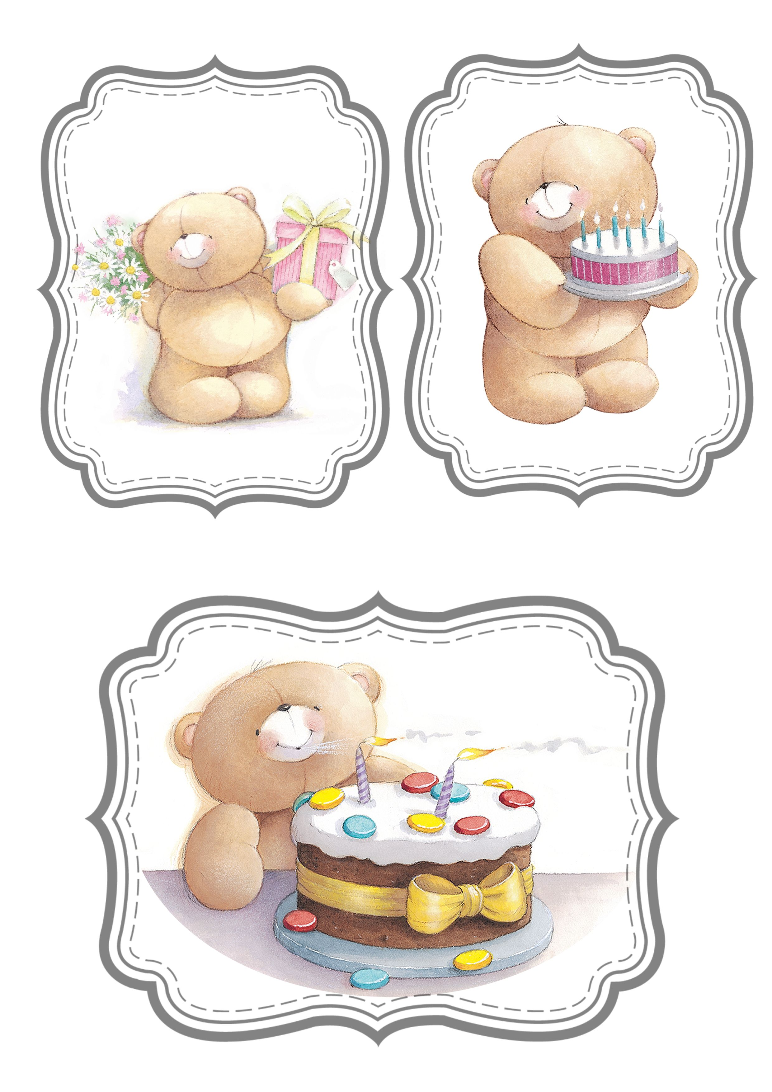 Forever Friends Printable Labels And Tags Pinterest Bears