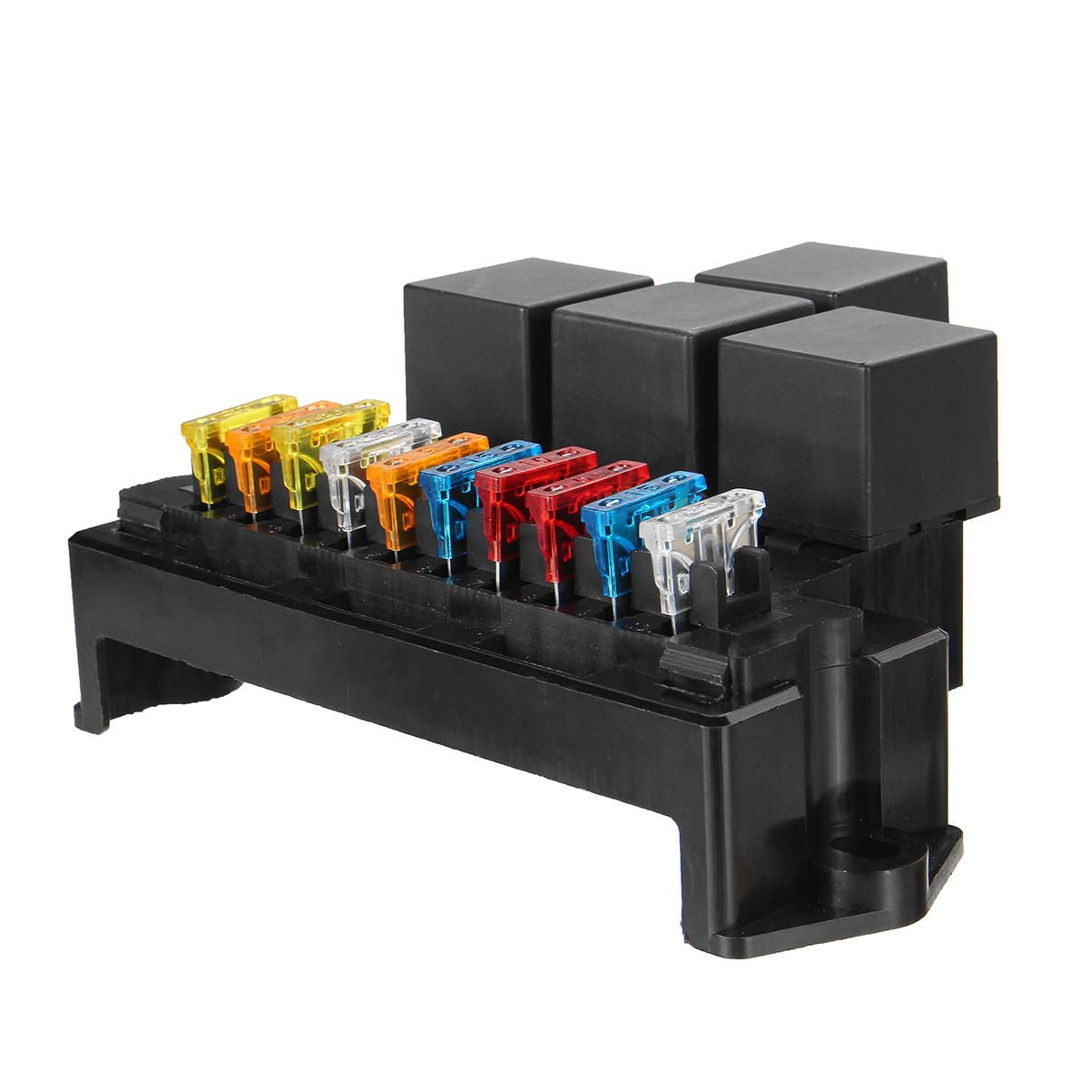 [us$16 99] auto car boat 10 way circuit standard blade fuse box block holder  set 12v 80a #auto #blade #block #boat #circuit #fuse #holder #standard