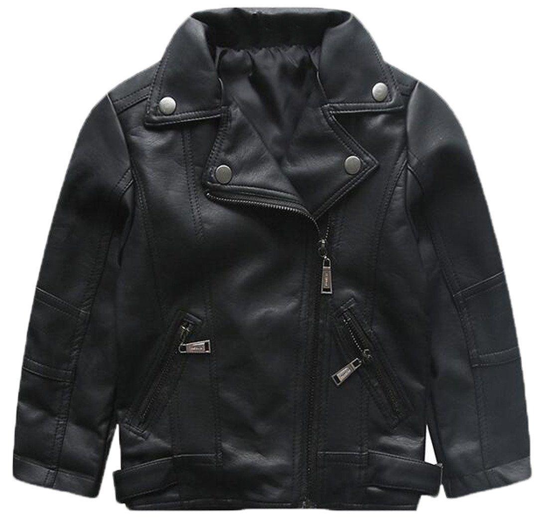 Zago Kids Baby Boy S Lapel Faux Leather Full Zipper Moto Jacket Coat 3t Black For Asia Size Informa Girls Jacket Black Faux Leather Jacket Coats Jackets Women [ 1055 x 1100 Pixel ]