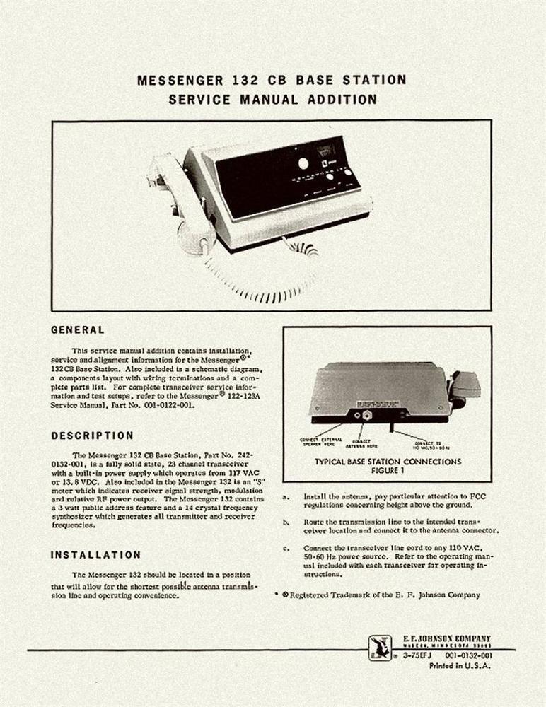 johnson messenger 132 cb radio service manual schematic cb radio rh pinterest com Example User Guide User Guide Template