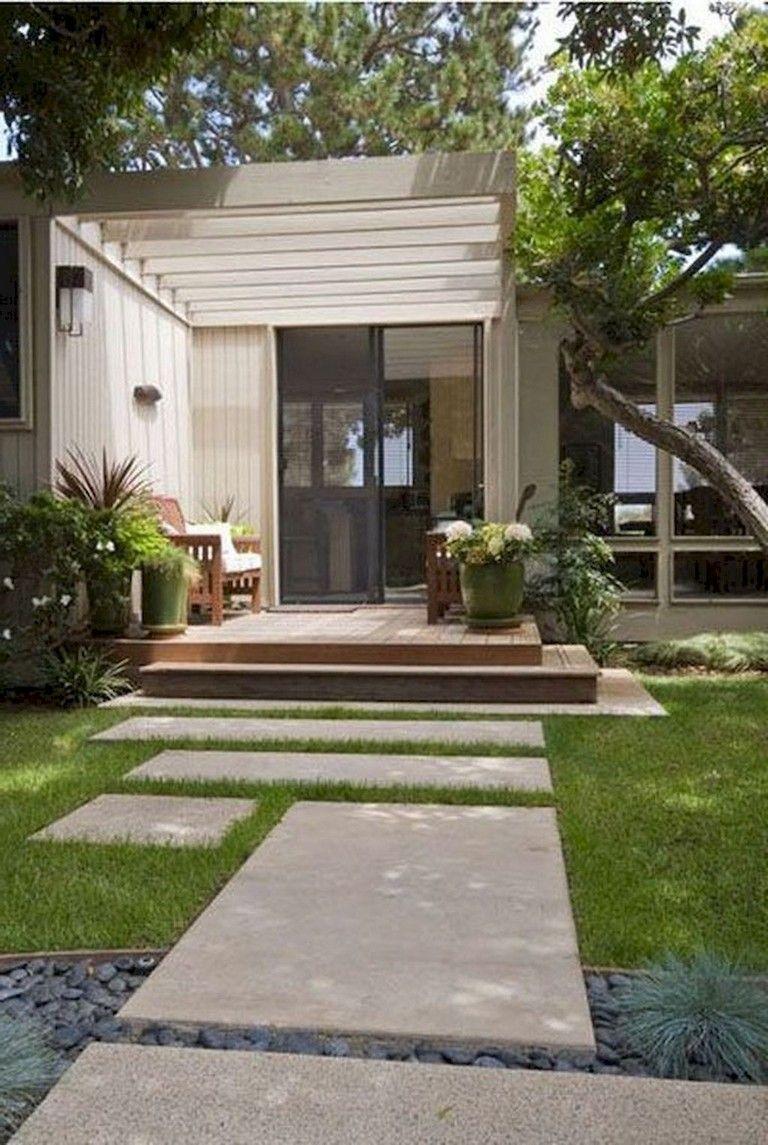 58 Beautiful Low Maintenance Front Yard Landscaping Ideas Modern Landscaping Modern Garden Design Modern Landscape Design