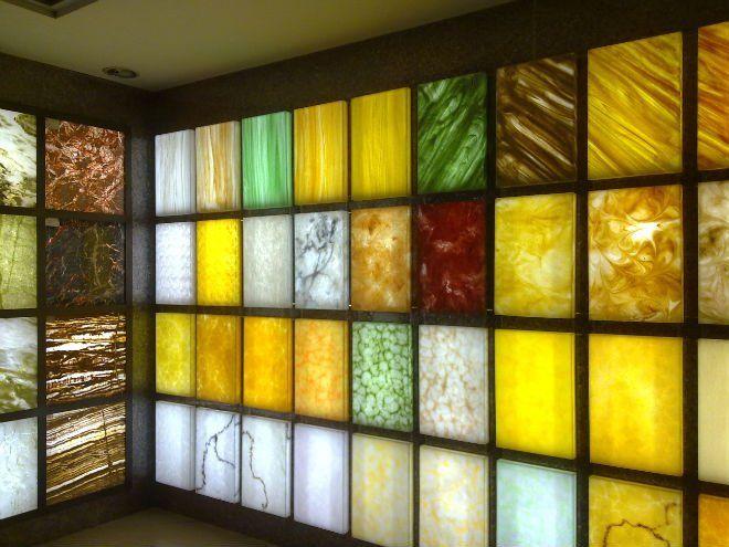 Translucent Resin Panel Maryland : Led backlit light panel translucent onyx marble