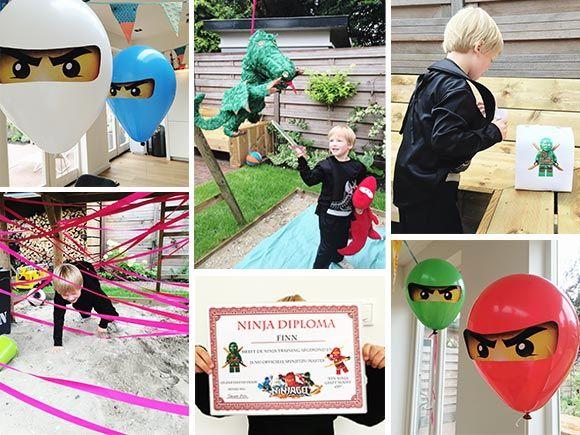 het lego ninjago partijtje van finn   boy birthday party   pinterest