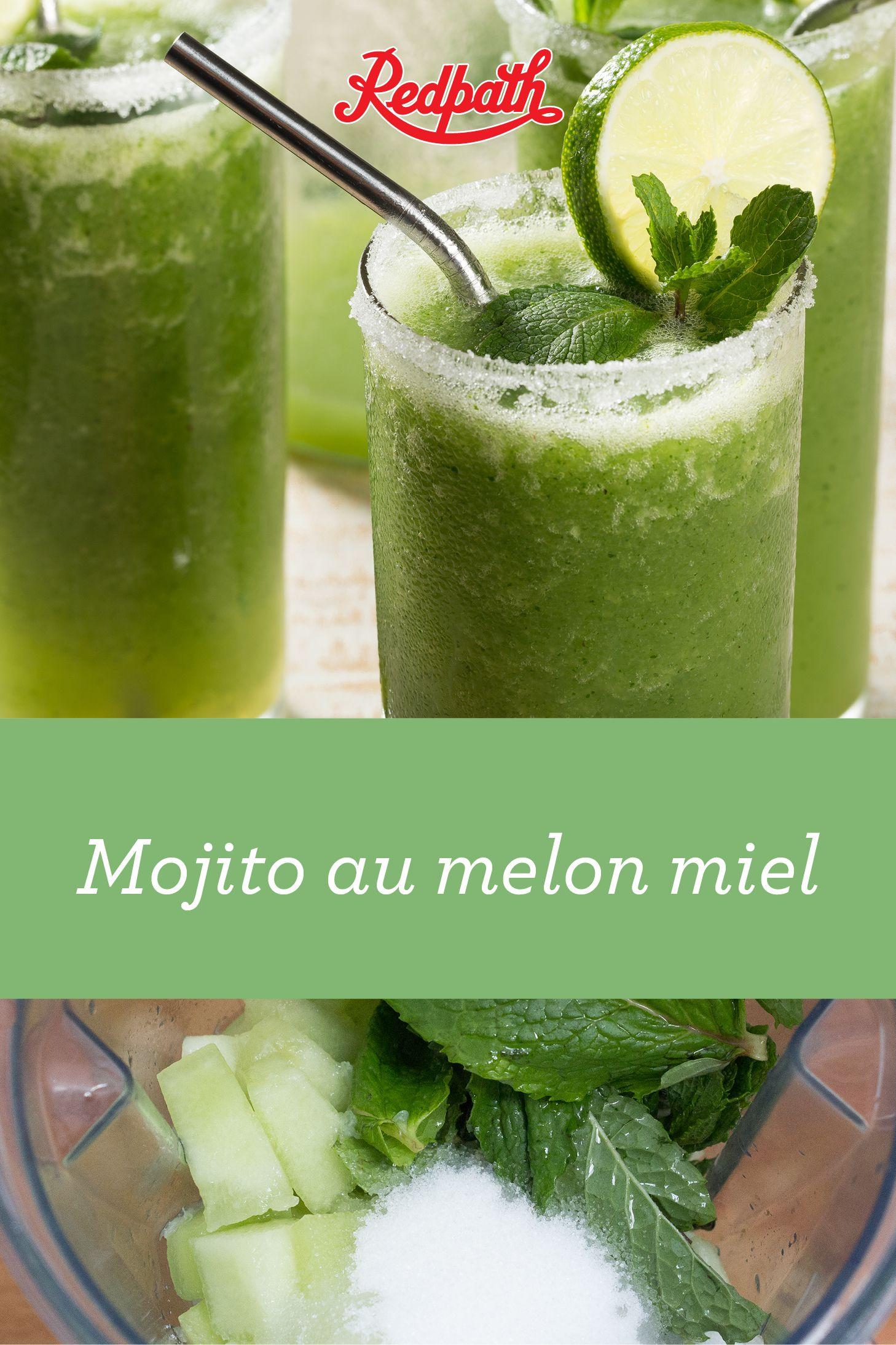 Mojito au melon miel recipe mojito smoothie drinks