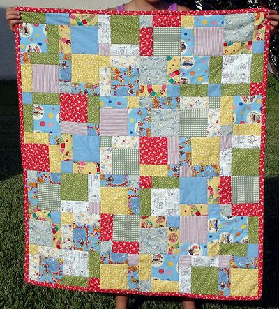Disappearing Nine Patch, from Sew, Mama, Sew! | Baby Quilt ... : disappearing 9 patch quilt tutorial - Adamdwight.com
