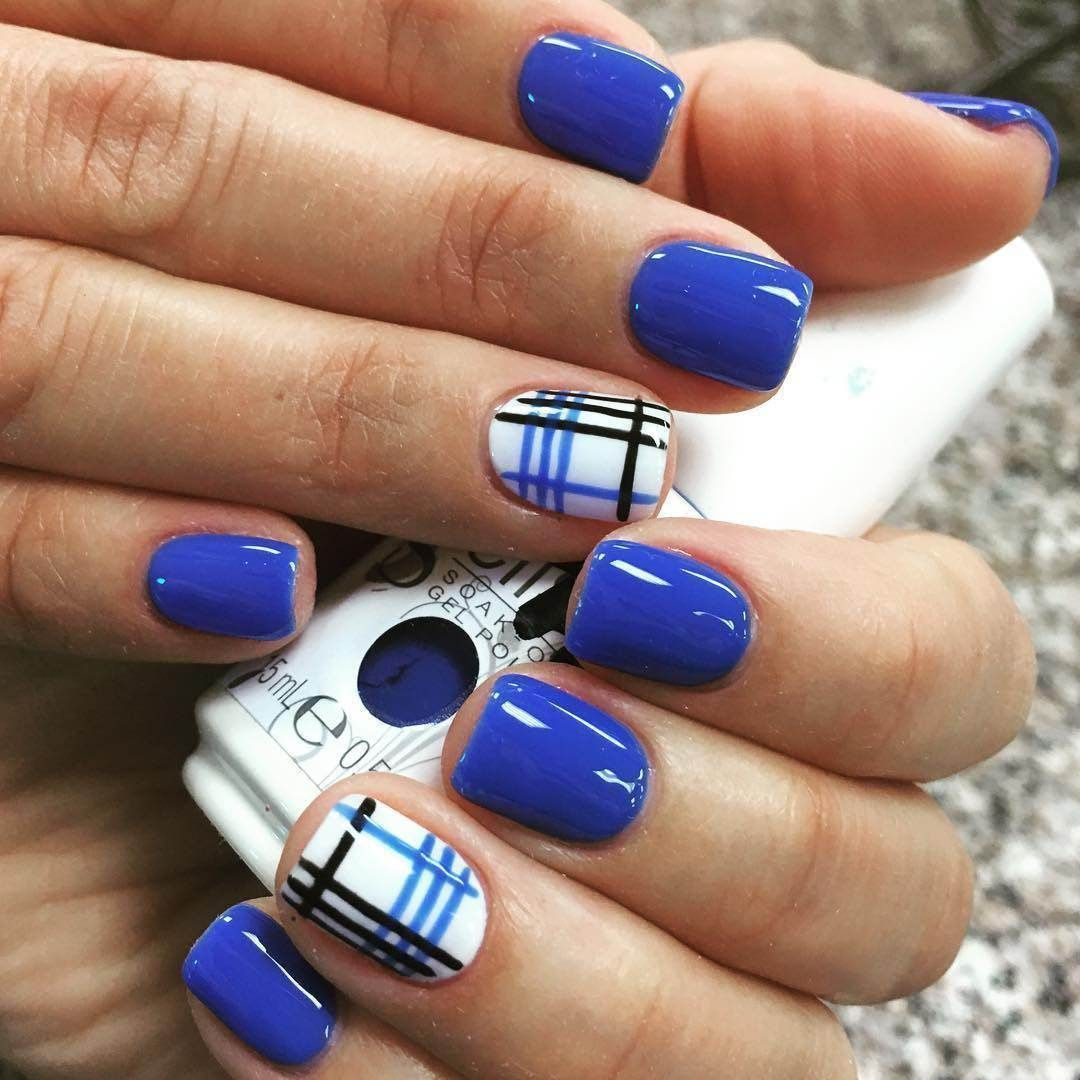 There are many current trends of blue nail art designs to ...