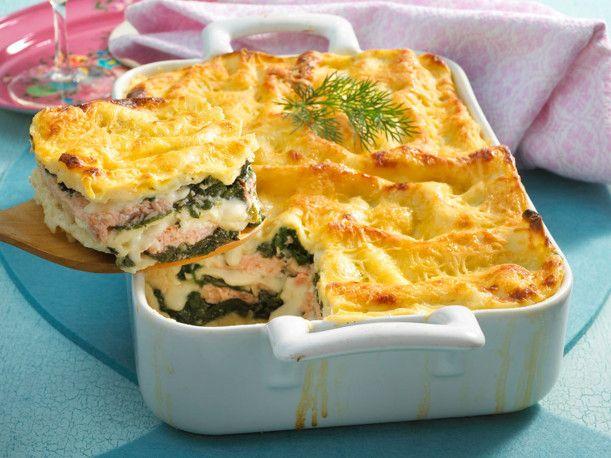 lachs spinat lasagne rezept kochrezepte pinterest lachs spinat lasagne lachs spinat und. Black Bedroom Furniture Sets. Home Design Ideas