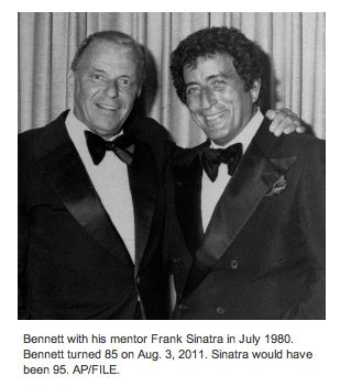 Frank Sinatra And Tony Bennett I M Happy To Say We Still Have Mr Bennett With Us Singing Lovely In His Eighties Tony Bennett Frank Sinatra Sinatra