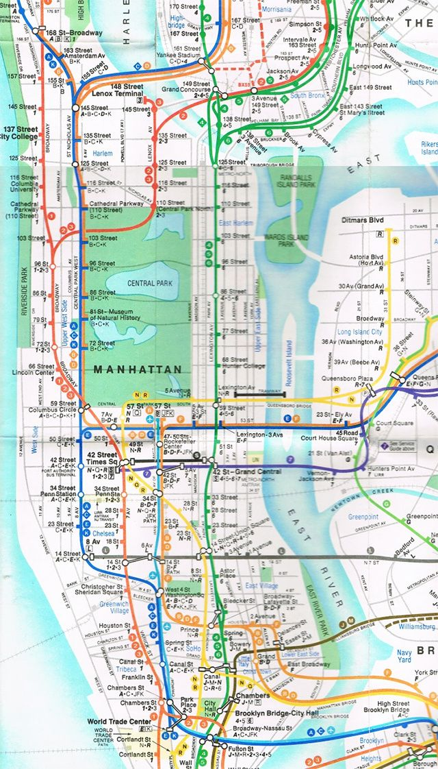 New York Subway Maps With Streets.Pin On Nyc