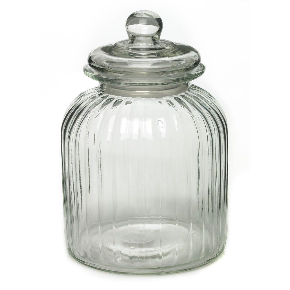 Wilko jar glass large 35l baby shower ideas pinterest storage wilko glass storage jar ribbed large solutioingenieria Image collections