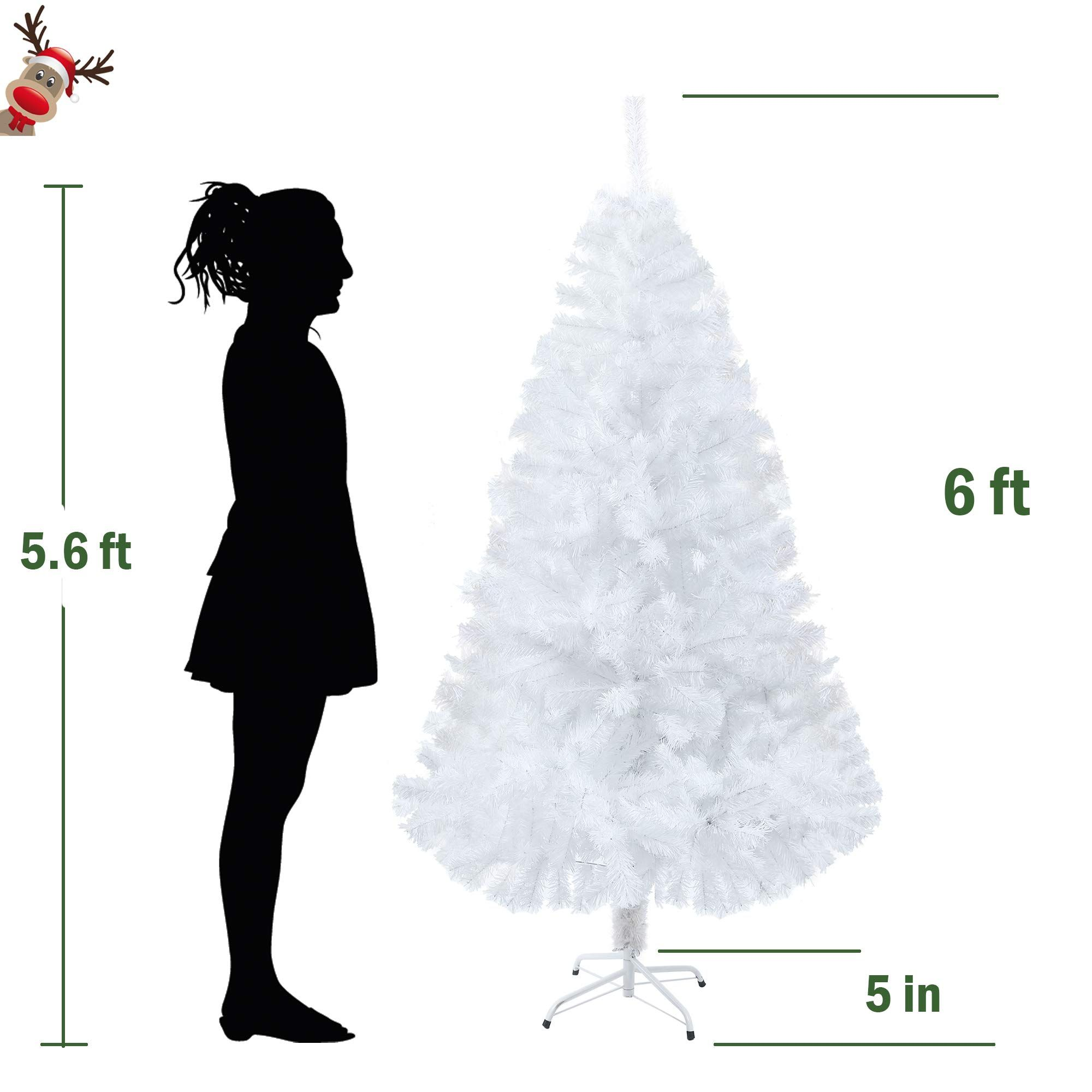 Lucky Tree 6 Ft Natural Artificial Pvc Tree With Full 800 Tips And Metal Leg White Fi Green Christmas Tree Christmas Tree Storage Bag Christmas Tree Storage