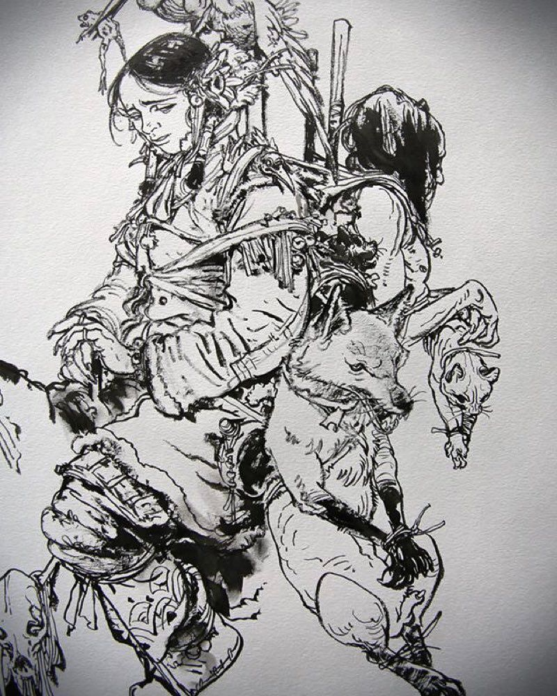 Drawing show at St-Malo #kimjunggi #drawing #illustration by kimjunggius