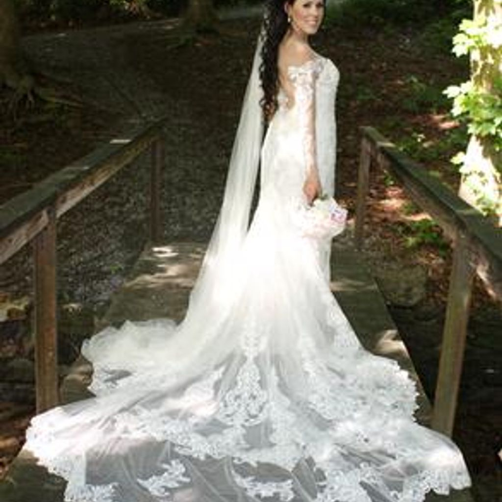 Illusion lace wedding dress  Long Sleeve Illusion Lace Wedding Dress  Davidus Bridal  Future