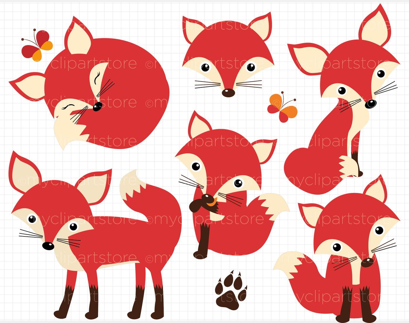 ac2bb1be2d480 Cute Red Foxes