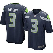 Men's Nike Seattle Seahawks Russell Wilson Game Team Color Jersey - NFLShop.com