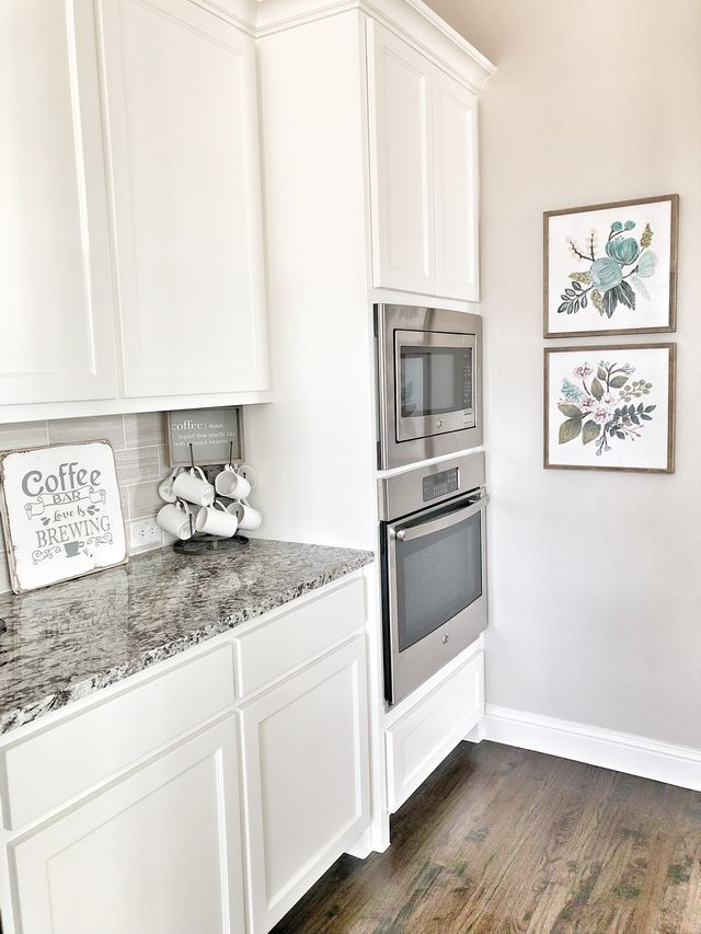 PPG Gypsum in semi-gloss Kitchen cabinet paint color PPG ...
