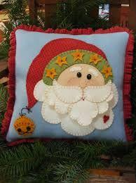 Afbeeldingsresultaat voor Santa Wool Applique Pattern