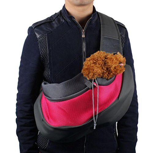 Dog Backpacks - Welcomeuni Pet BackpackDog Shoulder BagPet Dog Cat Puppy Carrier Mesh Travel Tote Shoulder Bag Sling Backpack Large Hot Pink  >>> Visit the image link more details. (This is an Amazon affiliate link)