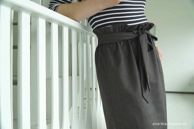 Angesagt und einfach zu nähen: Paperbag waist skirt | Selber machen ...