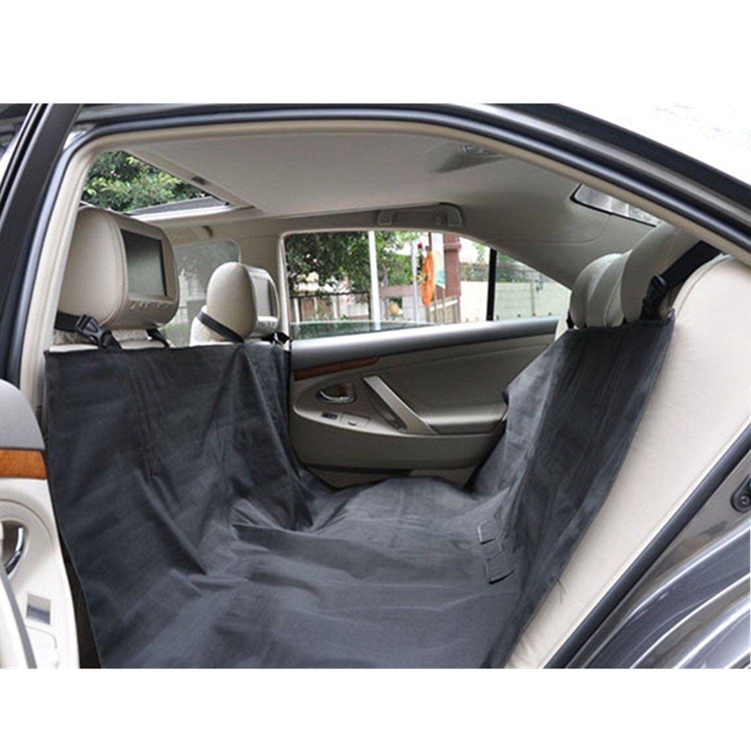 Fashion Dog Car Rear Back Seat Cover Pet Mat Blanket Cushion Protector Dr >>> Click image to review more details.