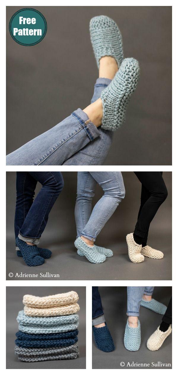 Photo of Easy Slippers Kostenloses Strickmuster