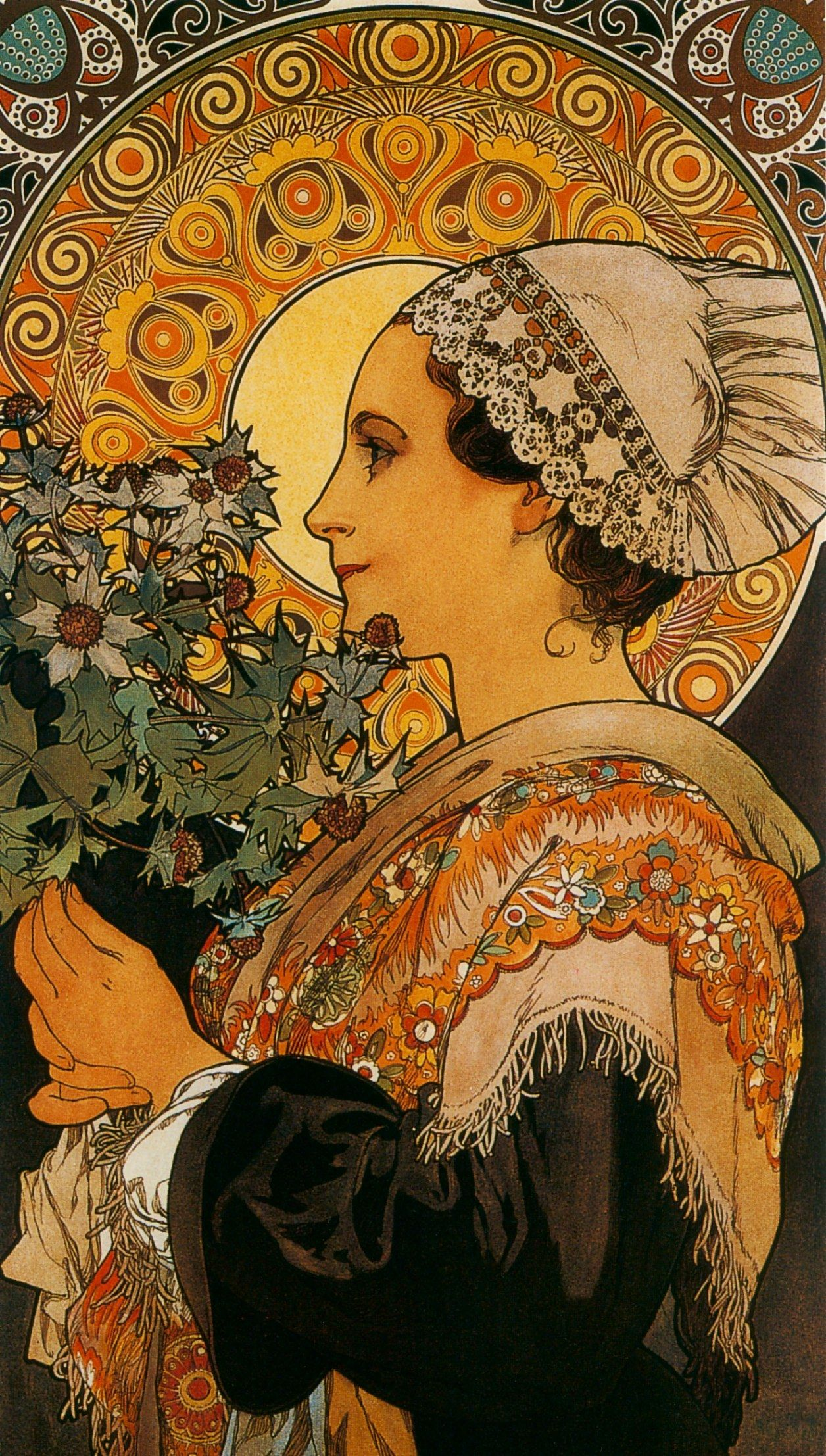 "Art Deco Nouveau: ""Thistle From The Sands"" 1902, By Alphonse Mucha; Normande"