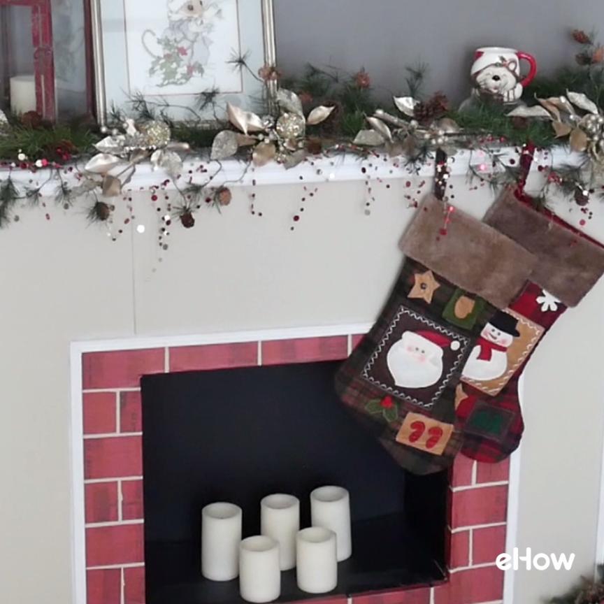 Fireplace Design cardboard christmas fireplace : How to Make a Cardboard Christmas Fireplace | Cardboard fireplace ...