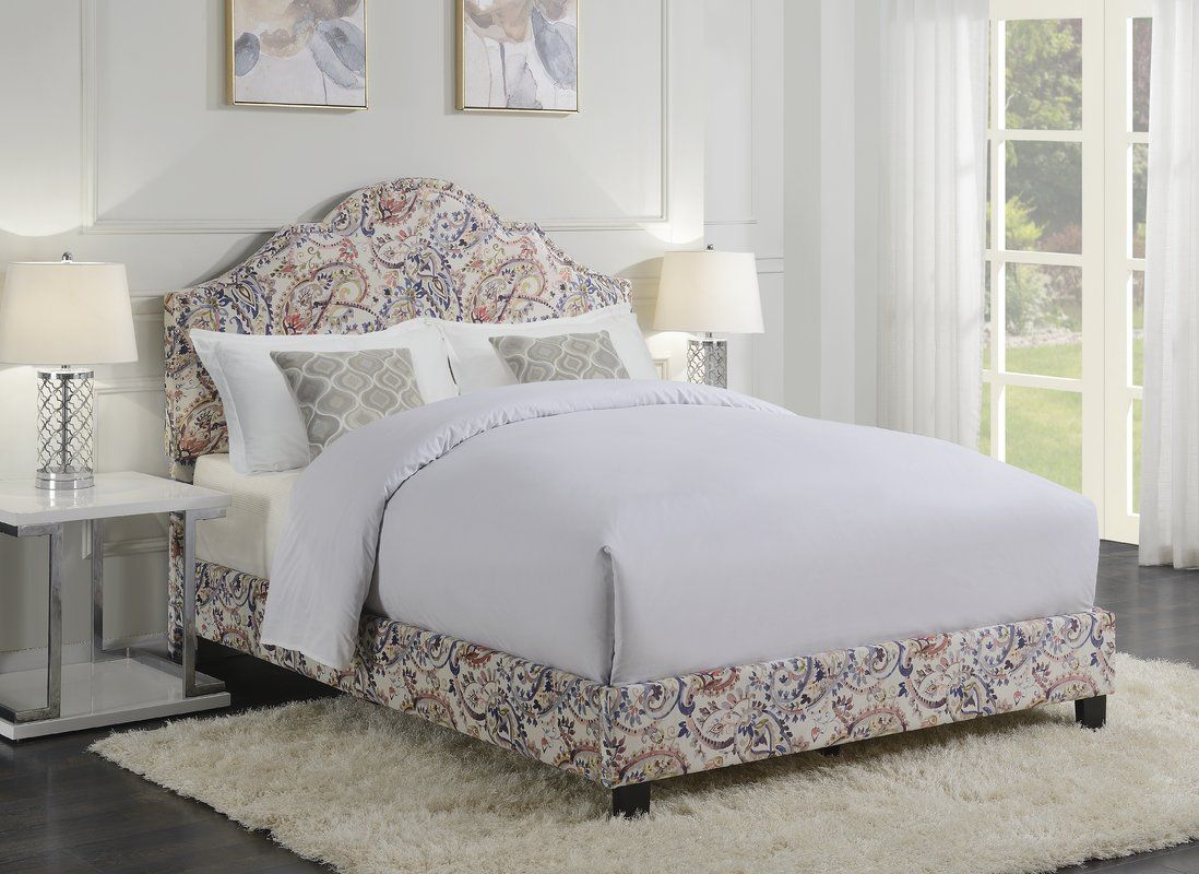 AllNOne Queen Upholstered Panel Bed Queen upholstered