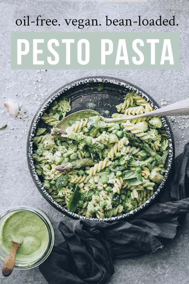 Creamy Vegan Pesto Pasta (Oil-Free) images