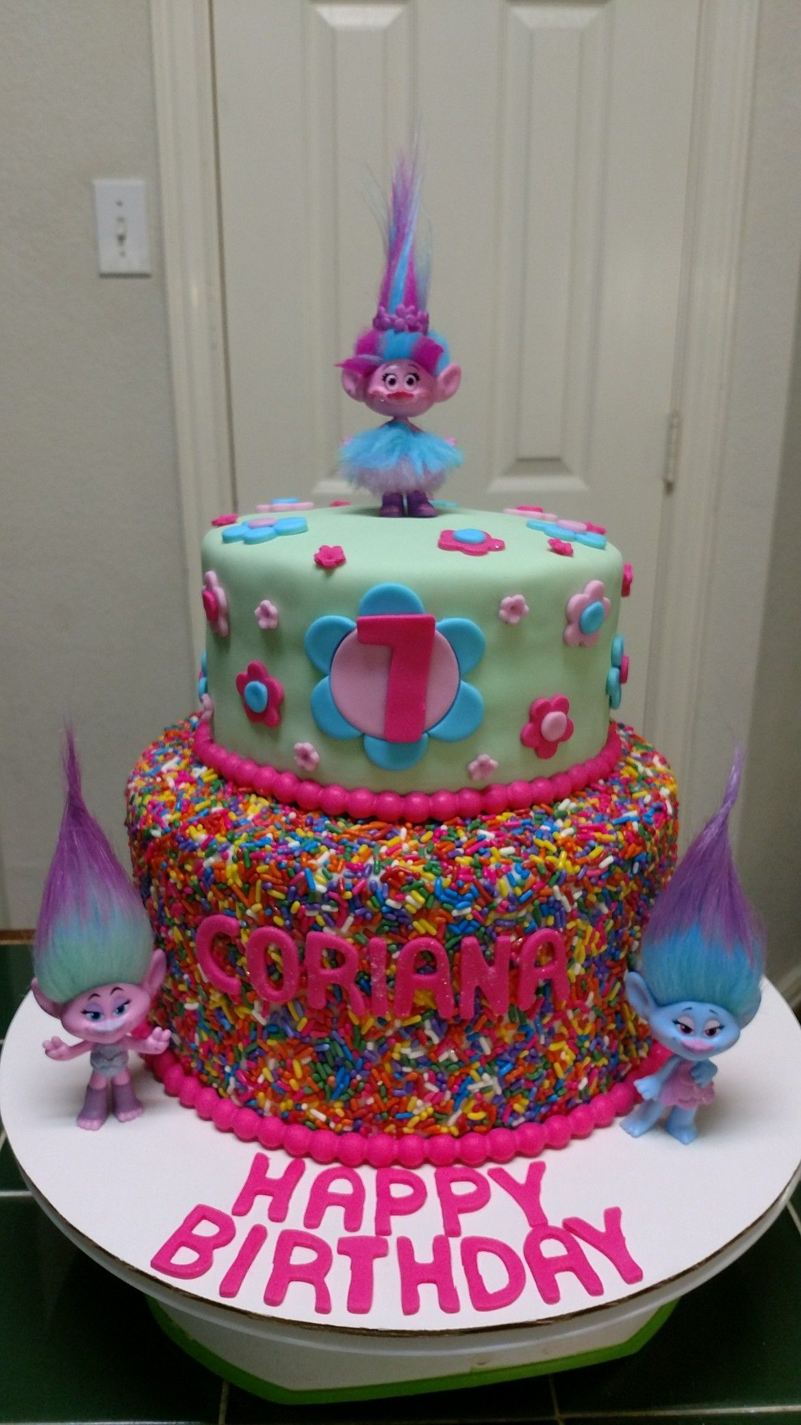 Amy S Crazy Cakes Princess Poppy Trolls Cake With Images